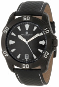Charles-Hubert Paris 3913-B Black-Plated Stainless Steel Case Black Dial Watch