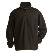 Berne Apparel SP250BKT560 3X-Large Tall Original Fleece Quarter Zip Sweatshirt - Black
