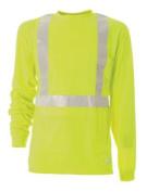 Berne Apparel HVK003YWR600 4X-Large Regular Hi-Visibility Long Sleeve Pocket Tee - Yellow