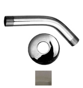 Whitehaus Collection WHSA165-2-PC 6 in. Showerhaus short solid brass shower arm with solid brass escutcheon- Polished Chrome