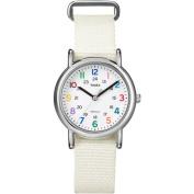 Timex Women's Weekender Watch, White Nylon Strap