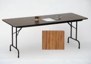 Correll Cf1872M-06 Melamine Top Folding Tables - Fixed Height - Med Oak