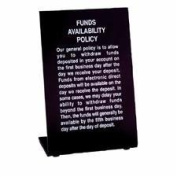 MMF 283510104 Sign Easel Style Plexi B Funds Available - Black