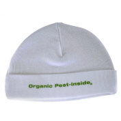 Silly Souls B-18 Organic Pest In-Side- Beanie- White