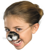 Black Cat Nose with Elastic Adult Halloween Accessory