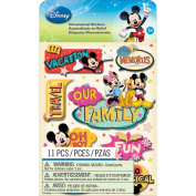 EK Success E5150052 Disney Dimensional Stickers-Mickey Family