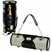 Picnic at Ascot 622-BW Wine Carrier and Purse -Black and White Weave