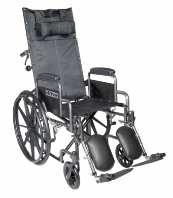 Drive Medical Ssp20Rbdda Silver Sport Reclining Wheelchair With Detachable Desk Length Arms- Silver Vein