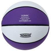 Tachikara SGB6RC.PRW Indoor-Outdoor Rubber 28.5 Intermediate Basketball - Purple-White