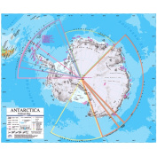 Universal Map 762545704 Antarctica Advanced Political Classroom Wall Map On Roller With Backboard