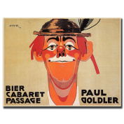 "Trademark Fine Art 60cm x 80cm ""Bier Cabaret Passage Paul Golder"" by J Steiner"