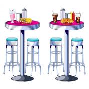 Soda Shop Tables & Stools Props Party Accessory (1 count)