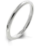 J Goodin R08037RV-V00-09 2mm High Polished Stainless Steel Eternity Wedding Band