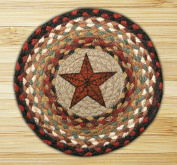 Capitol Importing 80-019BS Barn Star - 10 in. x 10 in. Hand Printed Round Swatch