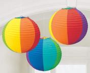 Amscan Rainbow Round Paper Lanterns