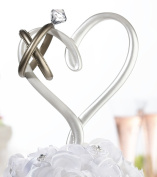 Lillian Rose CT551 Heart with Rings Cake Pick