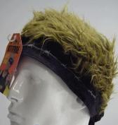 Billy Bob Teeth 11379 Black Barbed Wire Bandana with Brown Hair