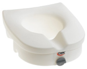 Carex Health Brands B312C0 E-Z Lock Raised Toilet Seat *Cp