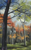 The Monarch Collection TMC-HB-17-24X30 Sycamore Stand-24X30 Painting
