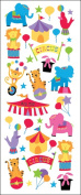Sticko 473445 Puffy Classic Stickers-Big Top Circus