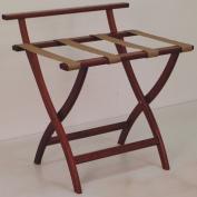 Wooden Mallet LR4-MHTAN WallSaver Luggage Rack in Mahogany with Tan Webbing