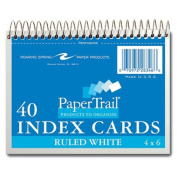 Roaring Spring Paper Products 28346 Wirebound Index Cards - 40 Sheets Per Pack