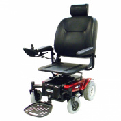 "Medalist Rear Wheel Drive Power Wheelchair - 18"" Pan Seat, Metallic Red"