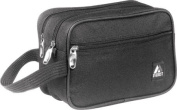 Everest 578W-BK 24.1cm . Dual Compartment Toiletry Bag