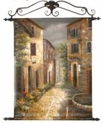 Graphics International H002B Marina View Scene Original Painting- 36 x 54