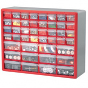 Akro-Mils AKM10144 Stackable Cabinets- 44 Drawers- 50.8cm .x6-.96.5cm .x38.1cm .- Grey