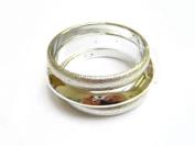 Alur Jewelry 16201SV Three-piece Plastic Bangle in Silver