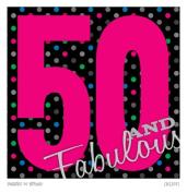 Canvas Kudos CKLE021 Fabulous 50 Birthday