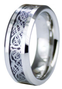 EWC R75409-120 Superior Cobalt Ring with Dragon Inlay Design - Size 12