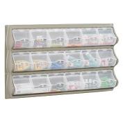 Safco Products 6112GR Panel Bins, 18 Pocket, Grey