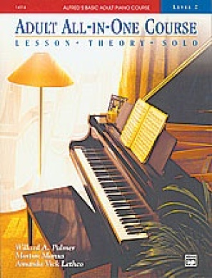 Alfred 00-14514 Basic Adult All-in-One Piano Course- Book 2 - Music Book