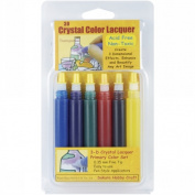 3D Crystal Lacquer Colour Pens 6/Pkg-Primary .150ml