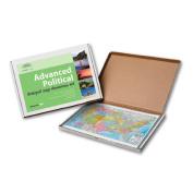 Universal Map 762544570 US Advanced Political Deskpad Map 30 Boxed Set
