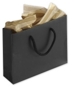 Bags & Bows by Deluxe 244M-050104-12M Black Matte Laminated Mini Euro-Totes - Case of 200