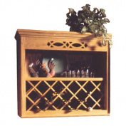 Hardware Distributors NPWRL 2430 CH 60cm .x 80cm . Wood Wine Rack Lattice - Cherry