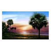 RoomMates RA0134M Palm Tree Chair Rail Prepasted Mural 6 ft. x 10.5 ft.