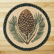 Capitol Importing 49-CH025A Pinecone - 15. 13cm Round Chair Pad