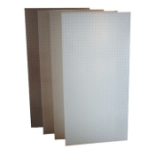 Triton Products DB-4 4 24 In. W x 48 In. H x .25 In. D White Polypropylene Pegboards with 9 - 32 In. Hole Size and 1 In. O.C. Hole Spacing