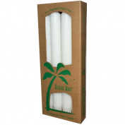 Aloha Bay 0249086 Palm Tapers White - 4 Candles