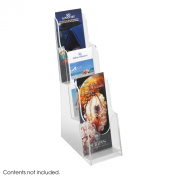 Safco 5638CL Clear Acrylic 3 Pocket Pamphlet Display