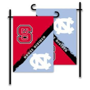 NCAA North Carolina-NC State House Divided 0.3m x 0.5m Collegiate 2-Sided Garden Flag with Pole #11213