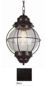 Trans Global Lighting 69906 BK Coastal 1 Light Large Onion Outdoor Hanging - Black