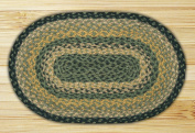 Capitol Importing 00-116 Black-Mustard-Creme - 10 in. x 15 in. Oval Swatch