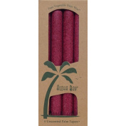 Aloha Bay 0249110 Palm Tapers Burgundy - 4 Candles