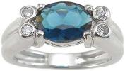 Plutus kkr6623a 925 Sterling Silver Rhodium Finish CZ Bezel Anniversary Ring Size 6