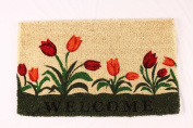 Kempf Welcome Tulip Natural Coco Doormat, 18 by 80cm by 2.5cm